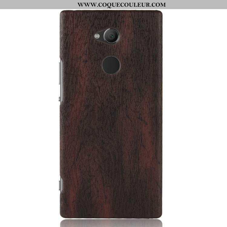 Housse Sony Xperia L2 Protection Marron Difficile, Étui Sony Xperia L2 En Bois Qualité