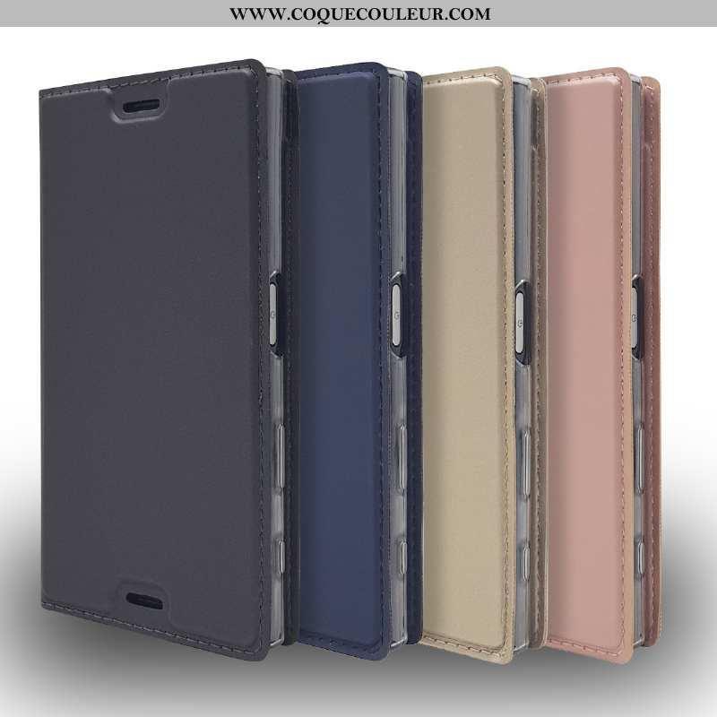 Housse Sony Xperia L2 Cuir Incassable Coque, Étui Sony Xperia L2 Protection Noir