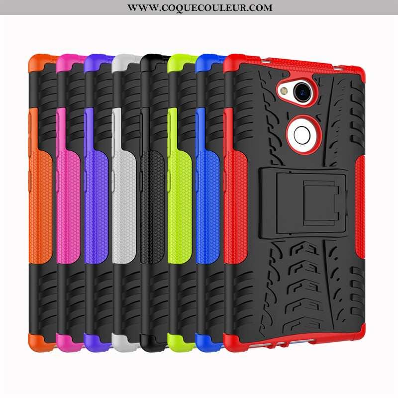 Housse Sony Xperia L2 Modèle Fleurie Support Étui, Étui Sony Xperia L2 Silicone Protection Noir