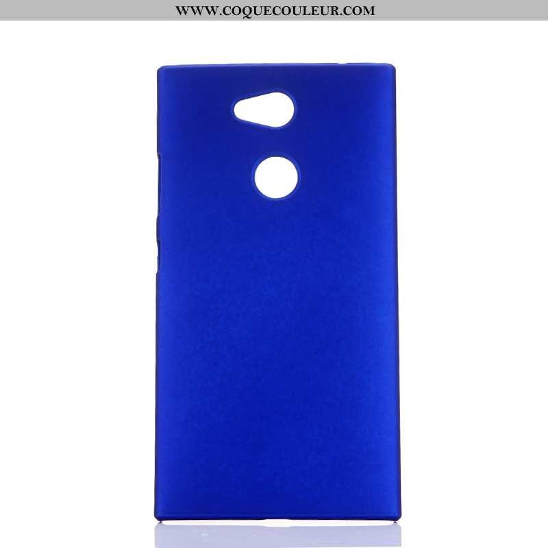 Étui Sony Xperia L2 Délavé En Daim Bleu Coque, Coque Sony Xperia L2 Protection Téléphone Portable
