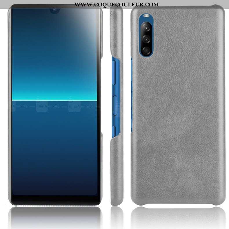 Étui Sony Xperia L4 Délavé En Daim Difficile Téléphone Portable, Coque Sony Xperia L4 Protection Gri