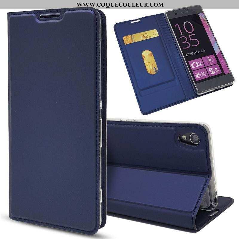 Housse Sony Xperia Xa Cuir Coque Étui, Étui Sony Xperia Xa Téléphone Portable Bleu