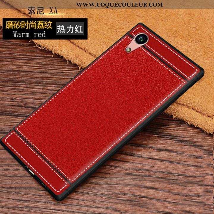 Coque Sony Xperia Xa Modèle Fleurie Rouge Incassable, Housse Sony Xperia Xa Fluide Doux Téléphone Po