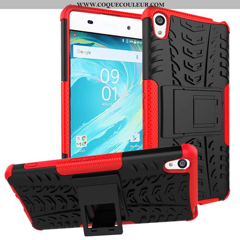 Housse Sony Xperia Xa Protection Rouge Coque, Étui Sony Xperia Xa Cuir Téléphone Portable