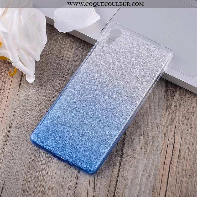 Housse Sony Xperia Xa Silicone Étui Fluide Doux, Sony Xperia Xa Protection Coque Bleu