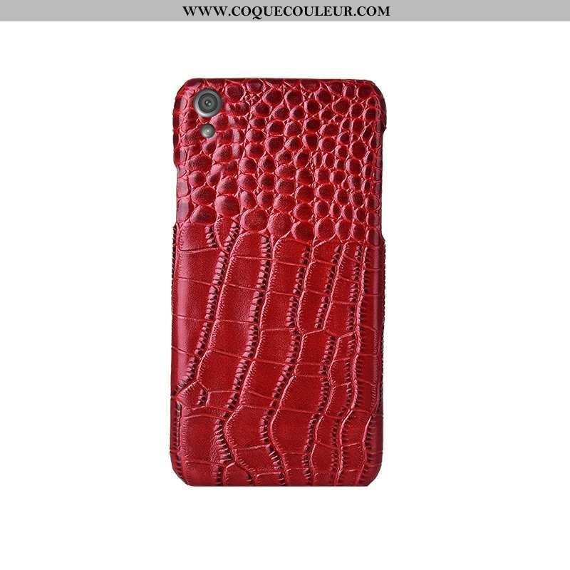 Housse Sony Xperia Xa Cuir Coque Luxe Véritable, Étui Sony Xperia Xa Modèle Fleurie Rouge