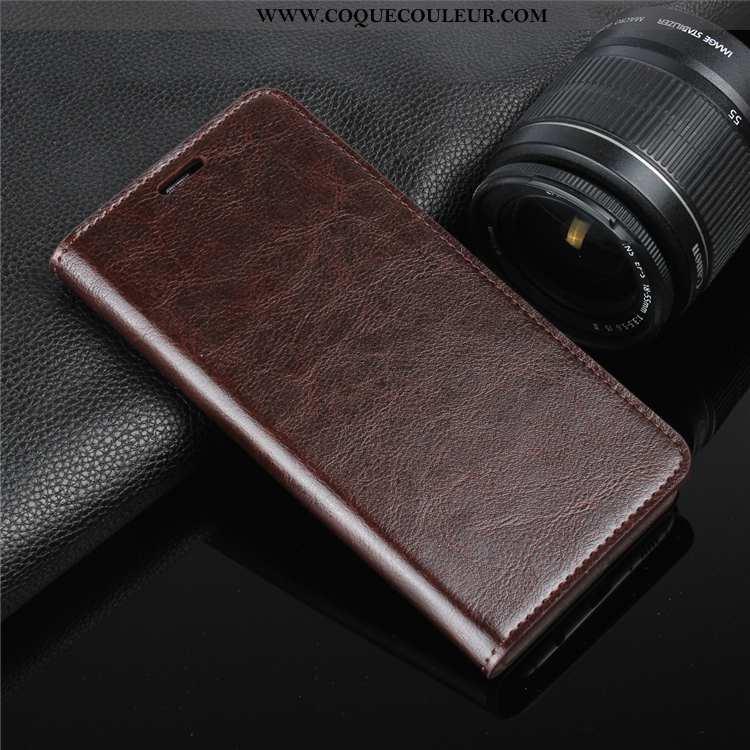 Coque Sony Xperia Xa Protection Marron, Housse Sony Xperia Xa Cuir Véritable Téléphone Portable Marr