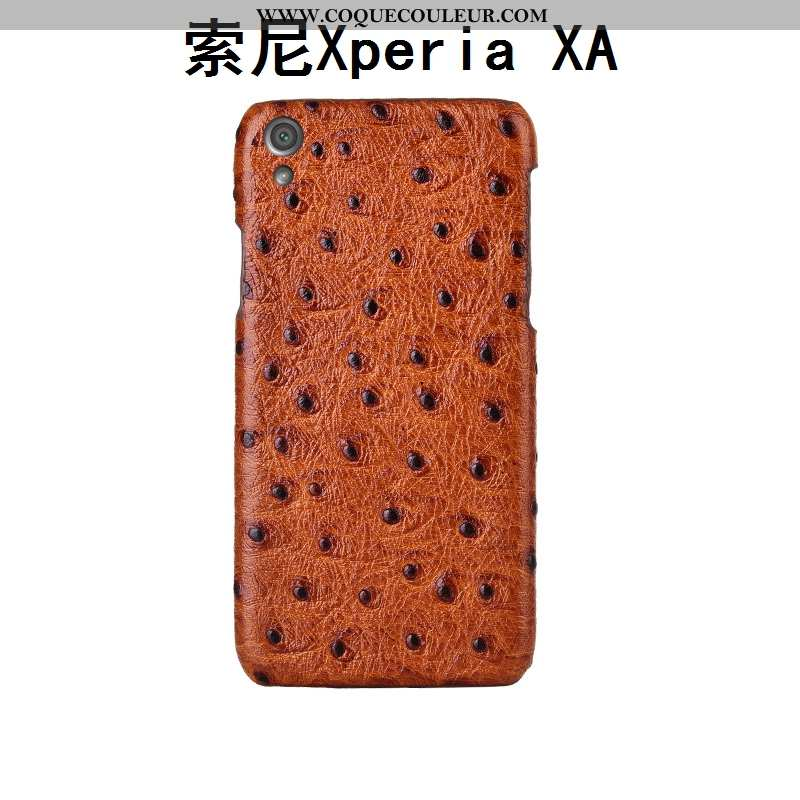 Housse Sony Xperia Xa Protection Créatif Cuir Véritable, Étui Sony Xperia Xa Luxe Incassable Marron