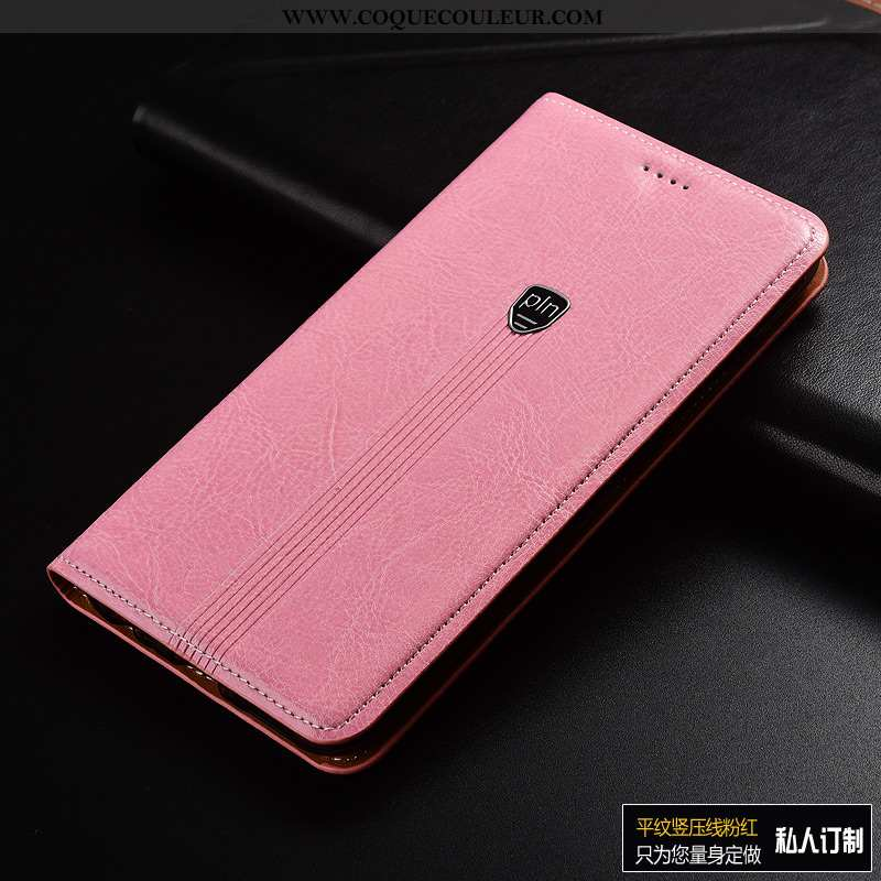 Étui Sony Xperia Xa1 Plus Protection Rose Incassable, Coque Sony Xperia Xa1 Plus Cuir Véritable Télé