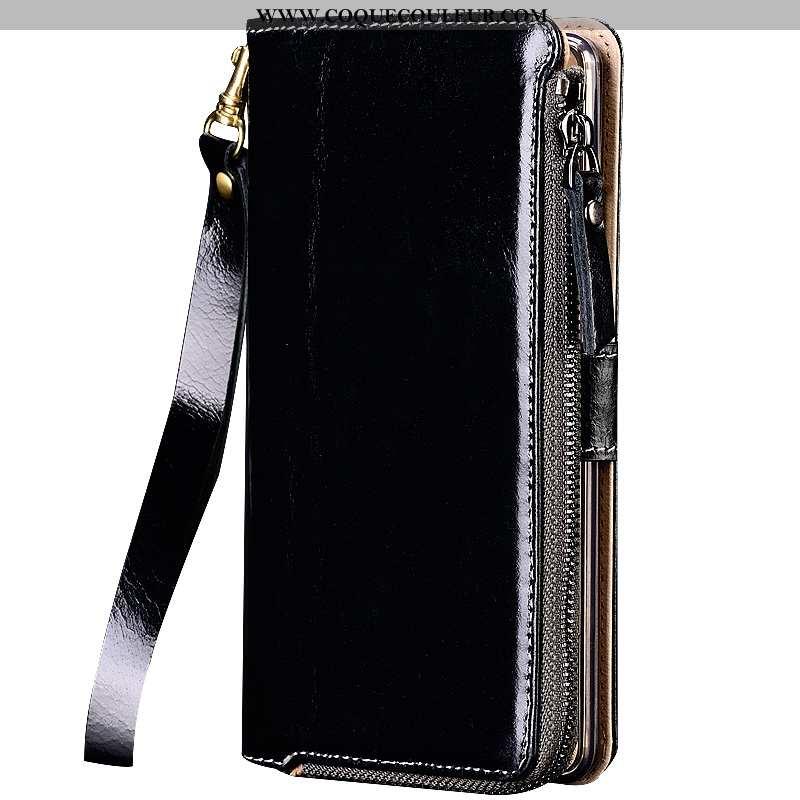Coque Sony Xperia Xa1 Plus Cuir Véritable Protection Téléphone Portable, Housse Sony Xperia Xa1 Plus