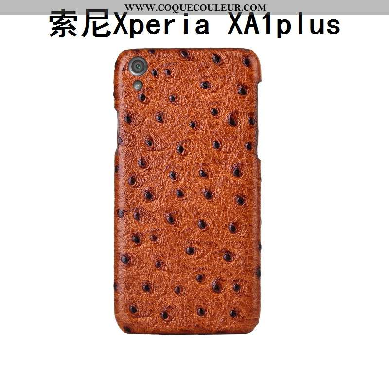 Housse Sony Xperia Xa1 Plus Créatif Étui Incassable, Sony Xperia Xa1 Plus Cuir Véritable Couvercle A