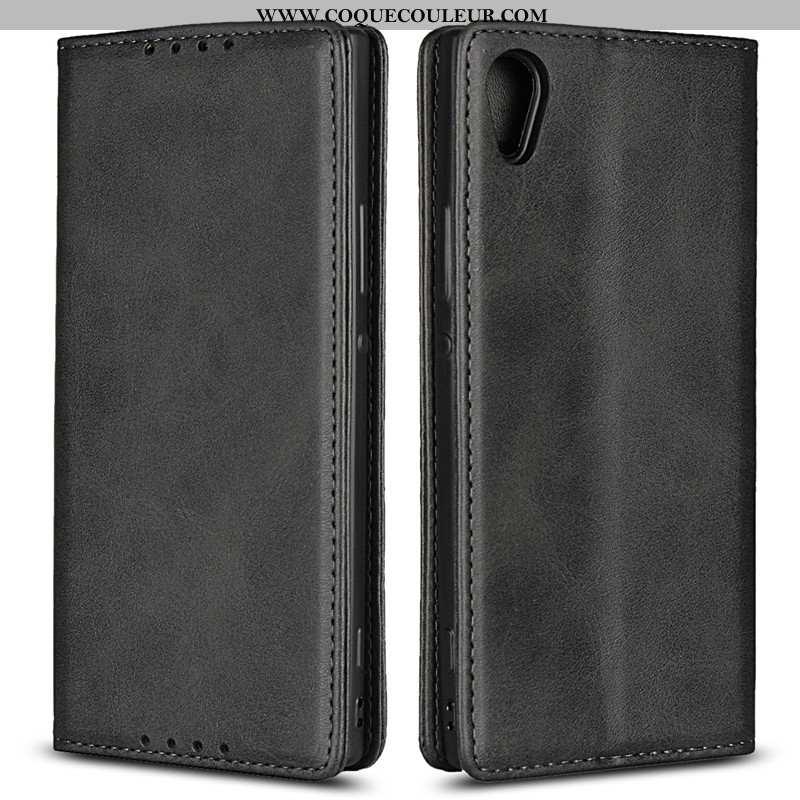 Housse Sony Xperia Xa1 Cuir Coque Étui, Étui Sony Xperia Xa1 Fluide Doux Téléphone Portable Noir