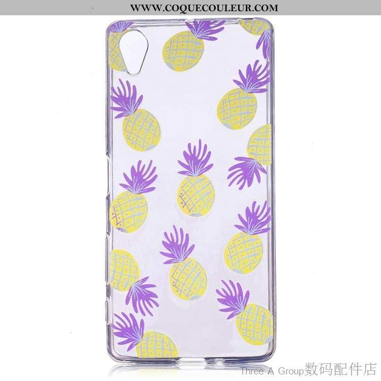 Housse Sony Xperia Xa1 Protection Coque Violet, Étui Sony Xperia Xa1 Transparent Violet