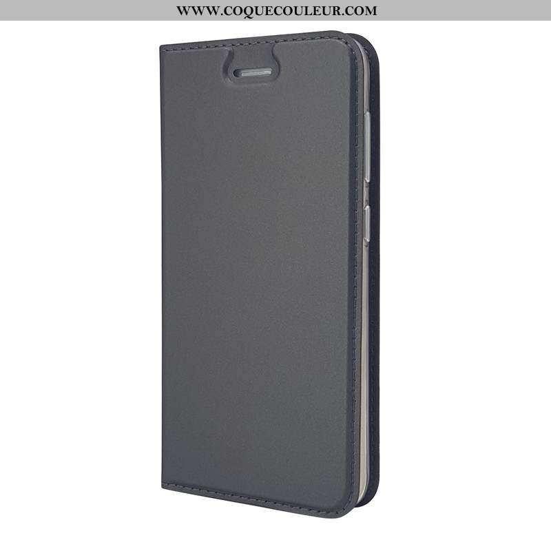 Étui Sony Xperia Xa1 Cuir Noir Coque, Coque Sony Xperia Xa1 Housse Téléphone Portable