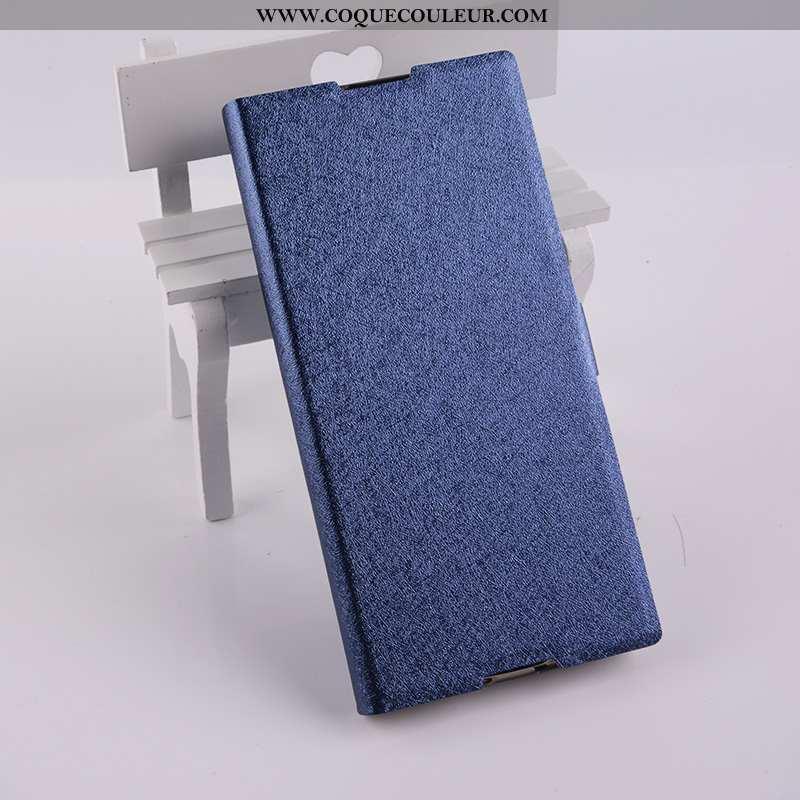 Coque Sony Xperia Xa1 Cuir Étui Bleu, Housse Sony Xperia Xa1 Téléphone Portable Bleu