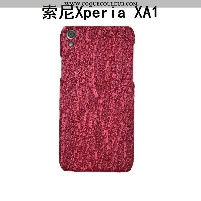 Étui Sony Xperia Xa1 Luxe Coque Incassable, Sony Xperia Xa1 Personnalité Personnalisé Rouge
