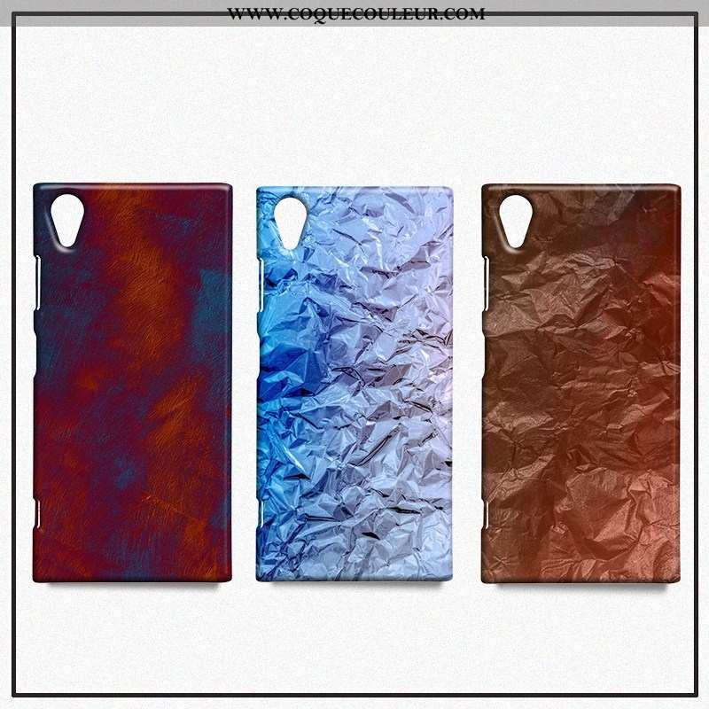 Coque Sony Xperia Xa1 Métal Étui Protection, Housse Sony Xperia Xa1 Créatif Téléphone Portable Rouge