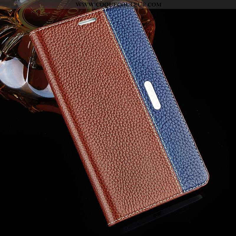 Coque Sony Xperia Xa1 Ultra Cuir Véritable Protection, Housse Sony Xperia Xa1 Ultra Cuir Téléphone P