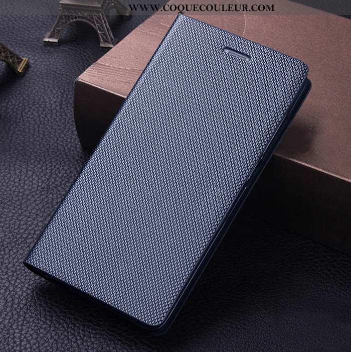 Étui Sony Xperia Xa1 Ultra Cuir Véritable Bleu Marin, Coque Sony Xperia Xa1 Ultra Protection Bleu Fo