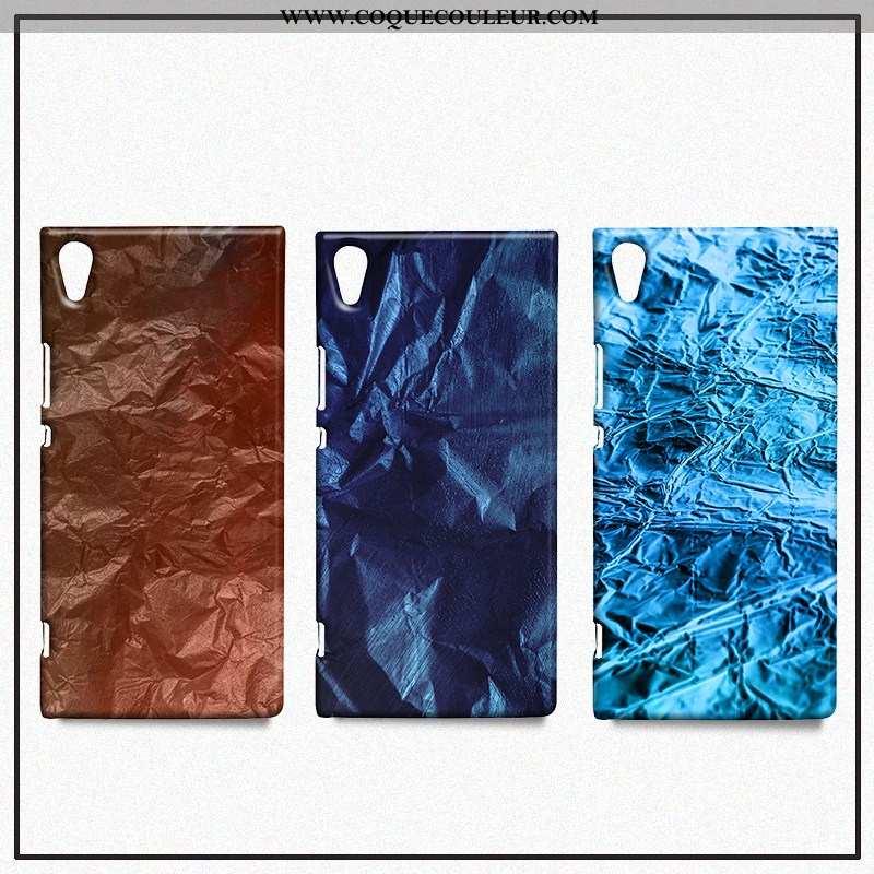 Étui Sony Xperia Xa1 Ultra Métal Coque, Coque Sony Xperia Xa1 Ultra Créatif Tendance Bleu