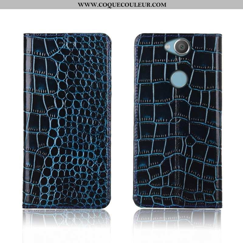 Coque Sony Xperia Xa2 Plus Fluide Doux Tout Compris Bleu, Housse Sony Xperia Xa2 Plus Silicone Cuir