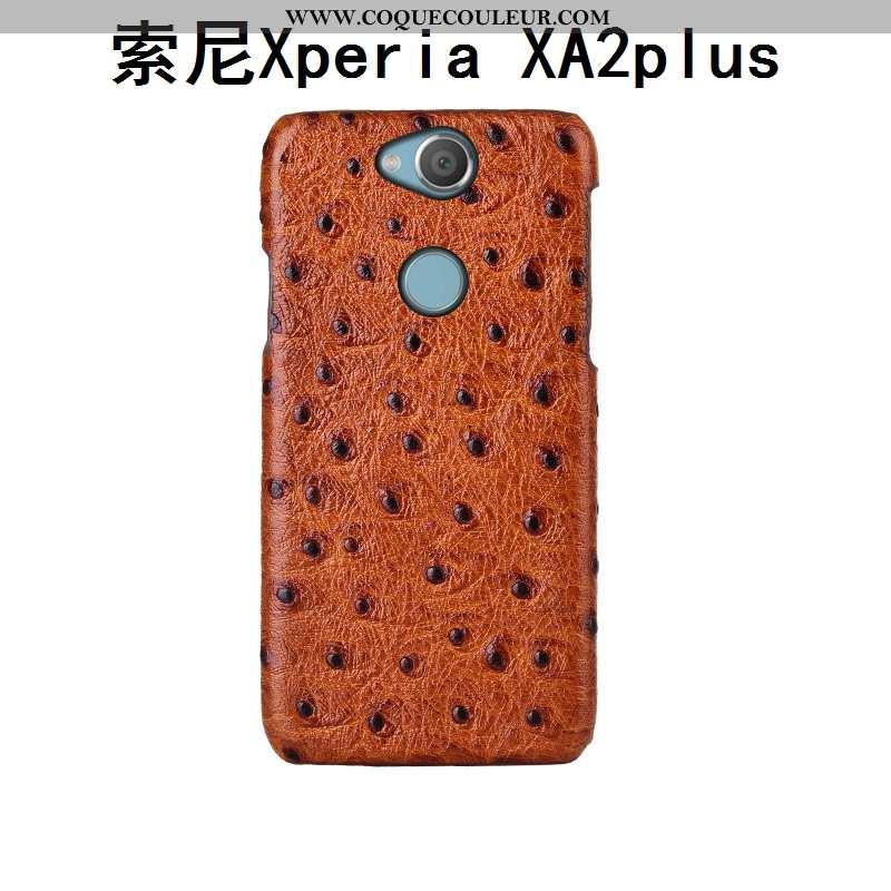 Étui Sony Xperia Xa2 Plus Protection Cuir Véritable Bovins, Coque Sony Xperia Xa2 Plus Luxe Cuir Mar