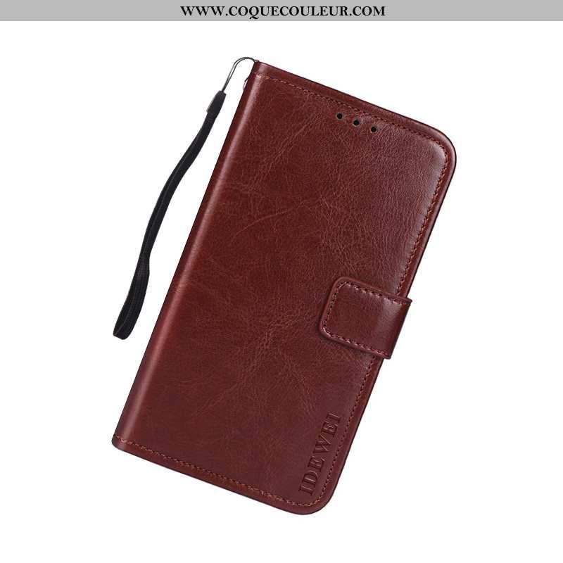 Housse Sony Xperia Xa2 Plus Cuir Marron Téléphone Portable, Étui Sony Xperia Xa2 Plus Protection Coq