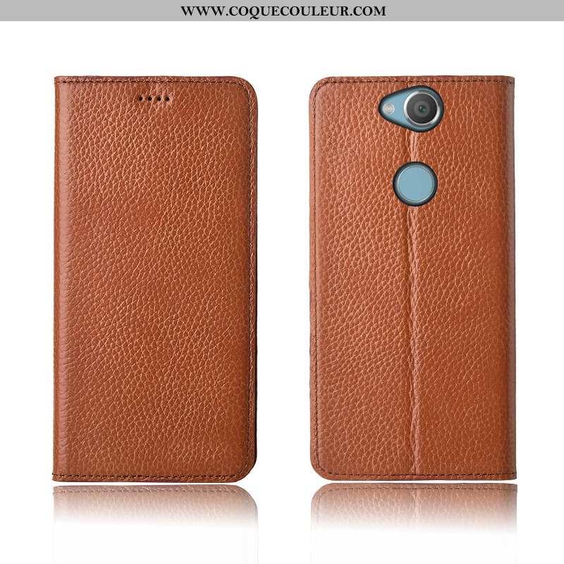 Étui Sony Xperia Xa2 Plus Fluide Doux Nouveau, Coque Sony Xperia Xa2 Plus Silicone Incassable Marron