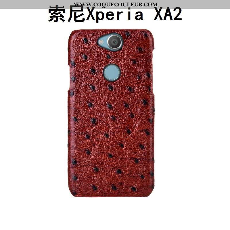Coque Sony Xperia Xa2 Cuir Véritable Personnalisé Protection, Housse Sony Xperia Xa2 Cuir Téléphone