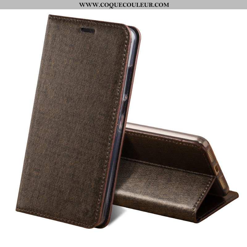 Étui Sony Xperia Xa2 Protection Légère Cuir Véritable, Coque Sony Xperia Xa2 Luxe Marron