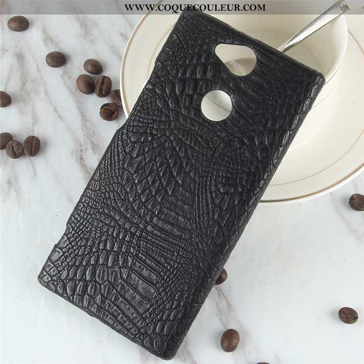 Coque Sony Xperia Xa2 Modèle Fleurie Crocodile Coque, Housse Sony Xperia Xa2 Protection Noir