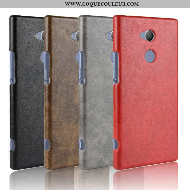 Étui Sony Xperia Xa2 Cuir Téléphone Portable Difficile, Coque Sony Xperia Xa2 Modèle Fleurie Rouge
