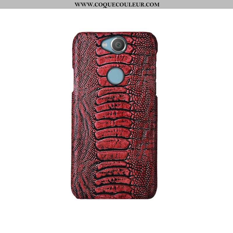 Housse Sony Xperia Xa2 Cuir Véritable Luxe Vin Rouge, Étui Sony Xperia Xa2 Cuir Bordeaux