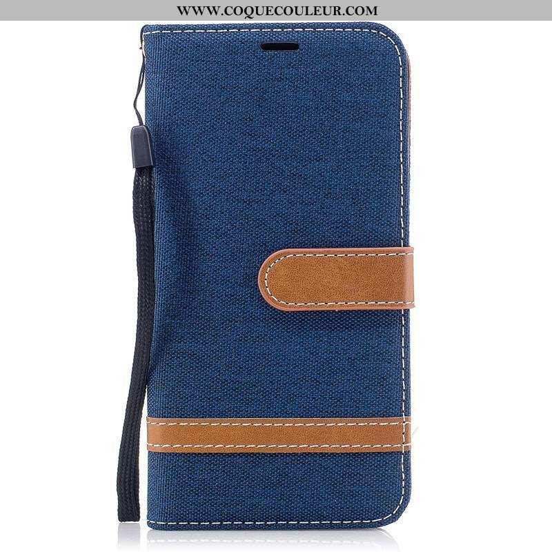 Coque Sony Xperia Xa2 Ultra Cuir Téléphone Portable En Denim, Housse Sony Xperia Xa2 Ultra Modèle Fl