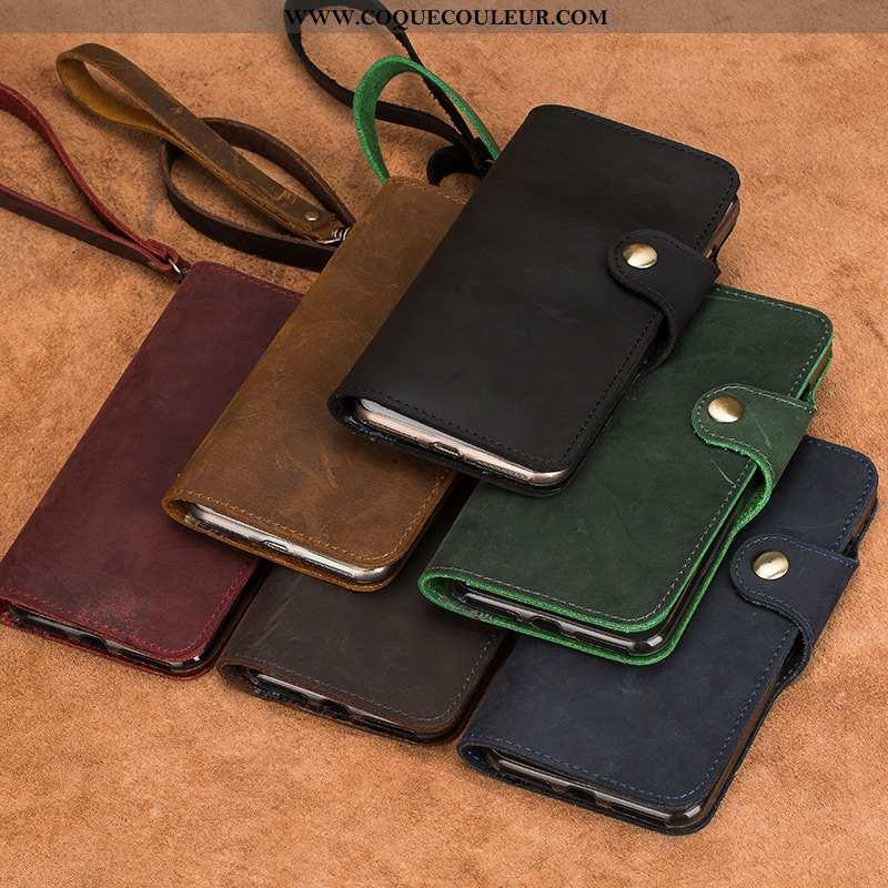 Housse Sony Xperia Xa2 Ultra Cuir Véritable Protection Téléphone Portable, Étui Sony Xperia Xa2 Ultr
