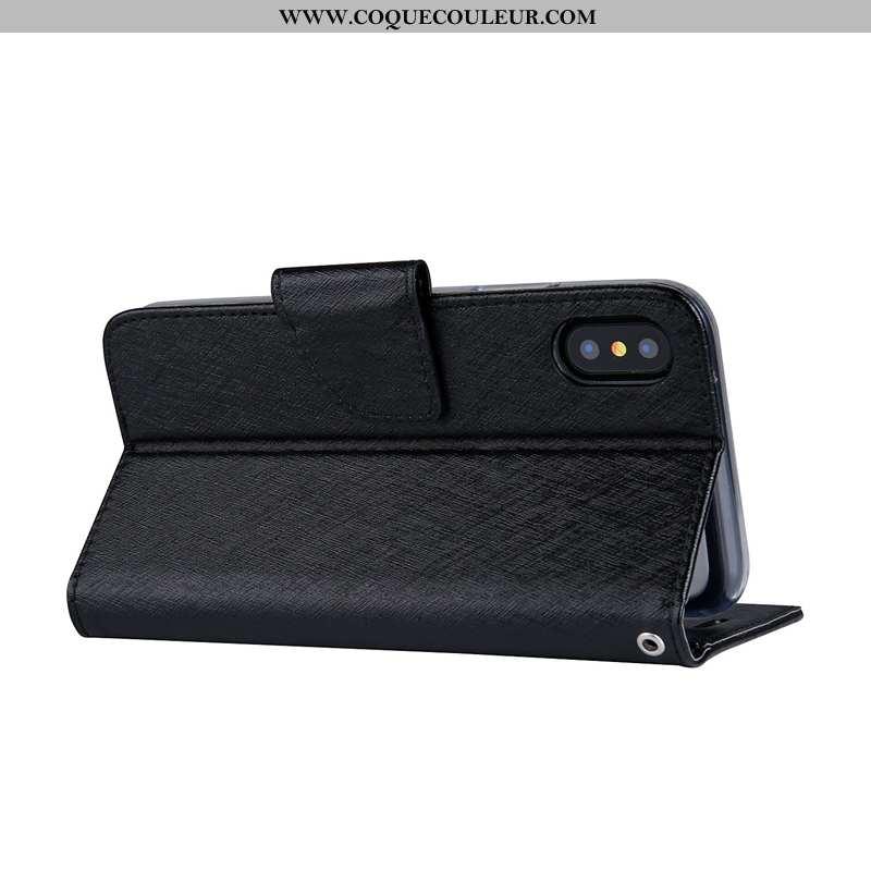Housse Sony Xperia Xa2 Ultra Cuir Business Noir, Étui Sony Xperia Xa2 Ultra Modèle Fleurie Noir