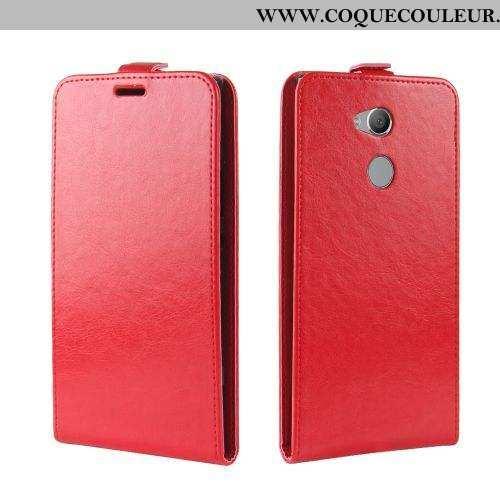 Étui Sony Xperia Xa2 Ultra Cuir Housse Rouge, Coque Sony Xperia Xa2 Ultra Silicone Tout Compris Roug