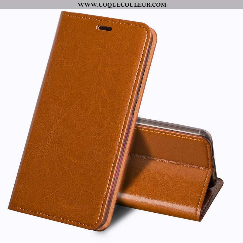 Housse Sony Xperia Xa2 Ultra Protection Vintage Étui, Étui Sony Xperia Xa2 Ultra Cuir Véritable Coqu