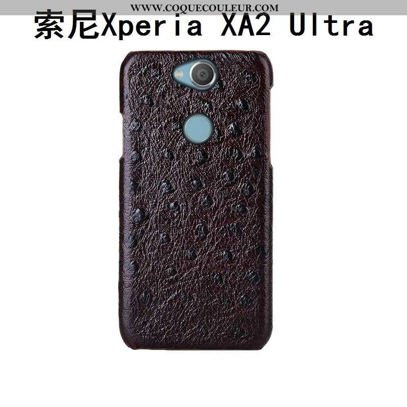 Coque Sony Xperia Xa2 Ultra Cuir Oiseau Luxe Véritable, Housse Sony Xperia Xa2 Ultra Modèle Fleurie