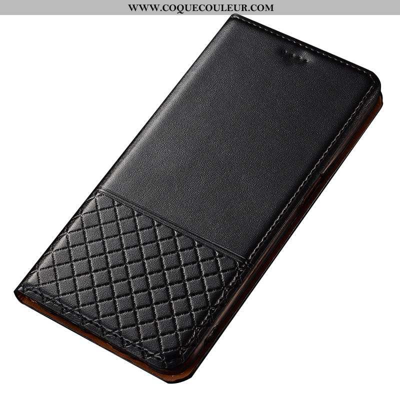 Étui Sony Xperia Xz Premium Cuir Housse Étui, Coque Sony Xperia Xz Premium Protection Véritable Noir