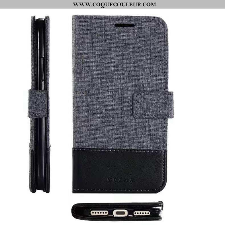 Coque Sony Xperia Xz Premium Cuir Téléphone Portable Gris, Housse Sony Xperia Xz Premium Tissu Gris