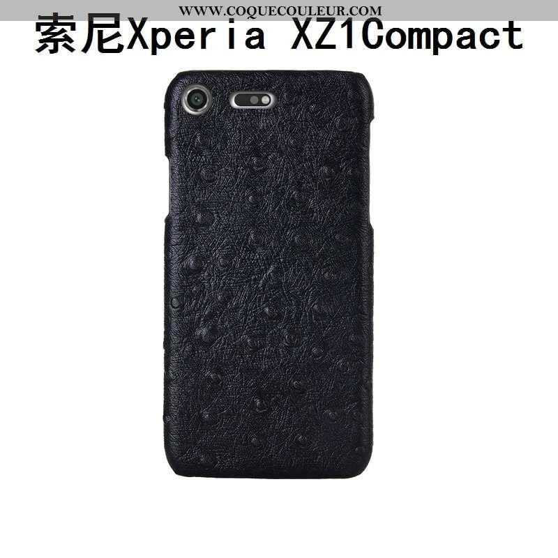 Coque Sony Xperia Xz1 Compact Cuir Véritable Protection Incassable, Housse Sony Xperia Xz1 Compact M