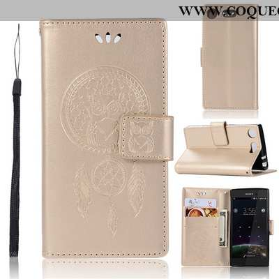 Housse Sony Xperia Xz1 Compact Portefeuille Étui Incassable, Sony Xperia Xz1 Compact Protection Or D