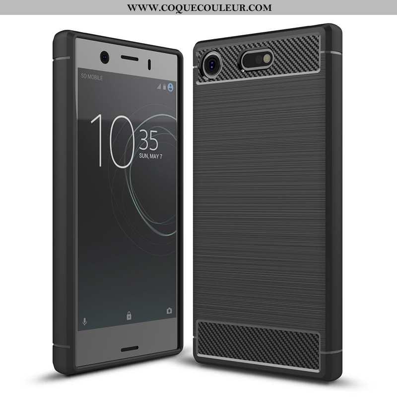 Étui Sony Xperia Xz1 Compact Modèle Fleurie Noir Incassable, Coque Sony Xperia Xz1 Compact Silicone