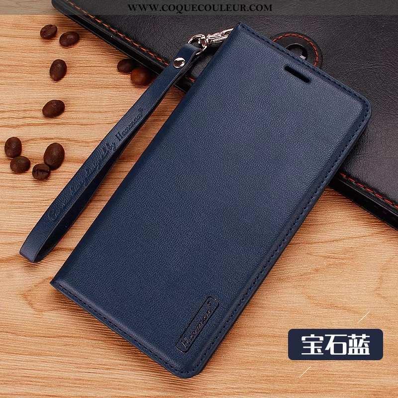 Étui Sony Xperia Xz2 Compact Cuir Véritable, Coque Sony Xperia Xz2 Compact Protection Bleu