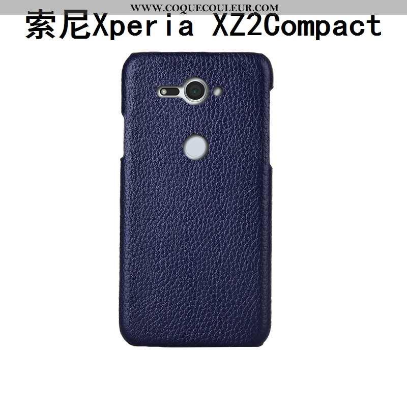 Coque Sony Xperia Xz2 Compact Protection Étui Mode, Housse Sony Xperia Xz2 Compact Luxe Créatif Bleu