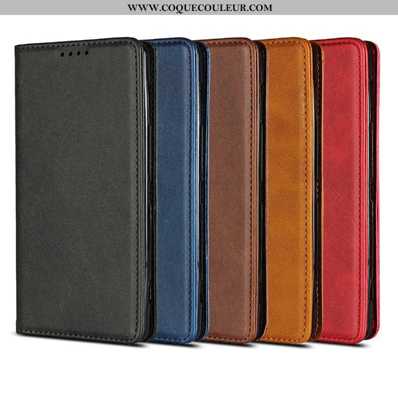 Étui Sony Xperia Xz2 Compact Cuir Noir Téléphone Portable, Coque Sony Xperia Xz2 Compact Protection