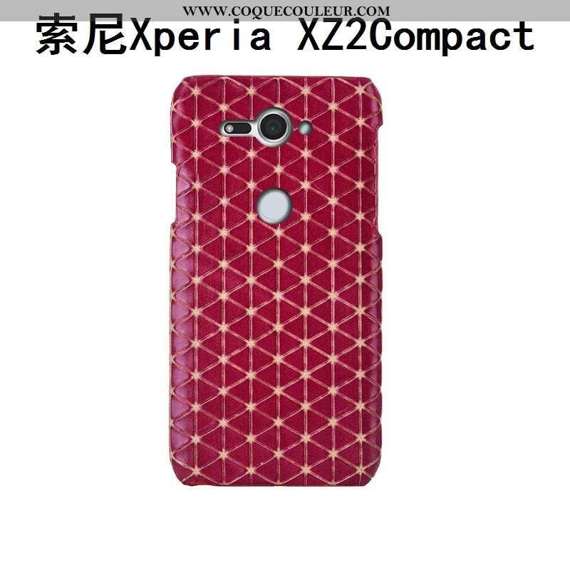 Étui Sony Xperia Xz2 Compact Cuir Protection Bovins, Coque Sony Xperia Xz2 Compact Mode Personnalisé