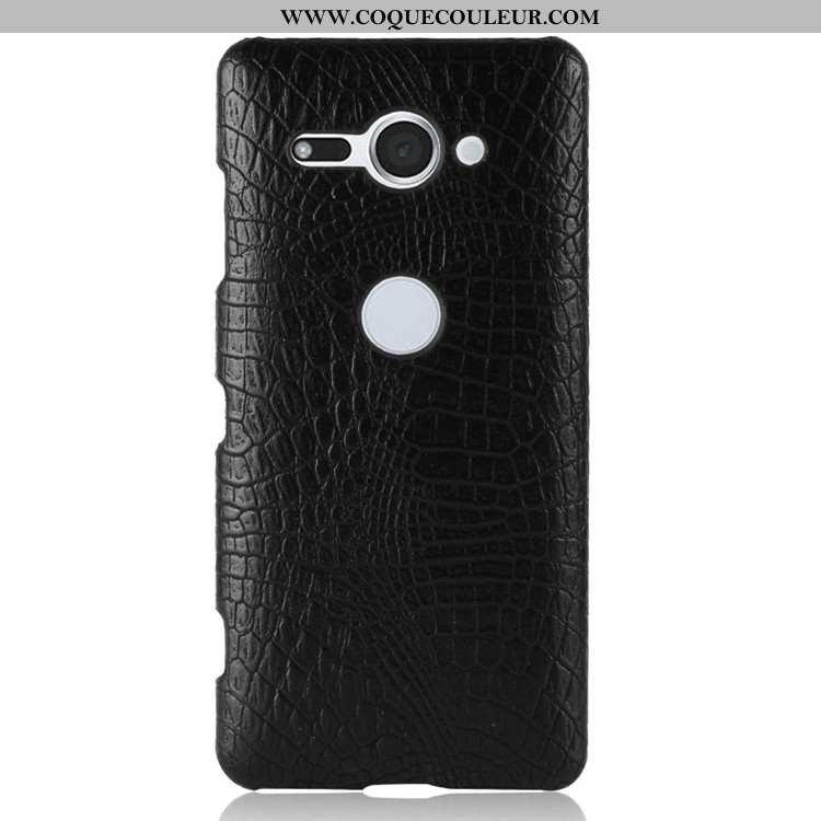 Étui Sony Xperia Xz2 Compact Vintage Noir Coque, Coque Sony Xperia Xz2 Compact Modèle Fleurie Téléph