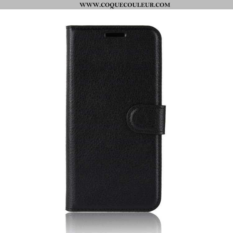 Housse Sony Xperia Xz2 Premium Protection Cuir, Étui Sony Xperia Xz2 Premium Portefeuille Coque Noir